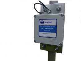 End fed 49:1 matching transformer with mounting bracket